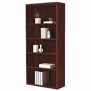 "32-3/8"" x 13-1/8"" x 71"" 10700 Series Bookcase with 5 Shelves, Mahogany"