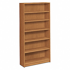 "36"" x 11-1/2"" x 72-5/8"" 1870 Series Bookcase with 6 Shelves, Harvest"