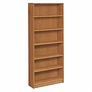 "36"" x 11-1/2"" x 84"" 1870 Series Bookcase with 6 Shelves, Harvest"