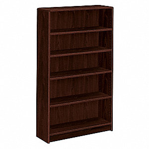 "36"" x 11-1/2"" x 60-1/8"" 1890 Series Bookcase with 5 Shelves, Mahogany"
