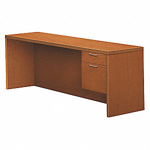 Right Pedestal Credenza,2 Drawers