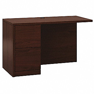 Left Desk Return,24 in. D x 29-1/2 in. H