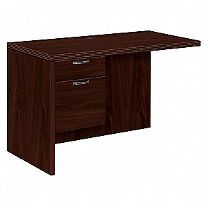 Left Desk Return,29-1/2 in. H,Mahogany