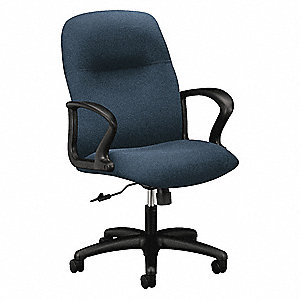 "Cerulean Fabric Task Chair 25-1/4"" Back Height, Arm Style: Fixed"