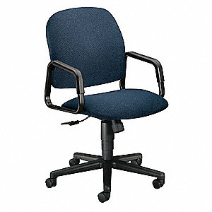 "Manager Chair,Fabric,Blue,17-22"" Seat Ht"
