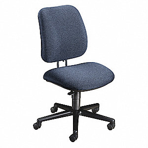 hon navy blue fabric task chair 20 back height arm style no arm