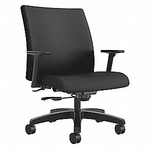 Awe Inspiring Hon Black Fabric Big And Tall Desk Chair 23 Back Height Download Free Architecture Designs Viewormadebymaigaardcom