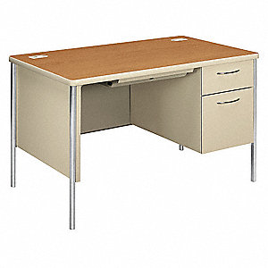 Office Desk,48 in.W,Arch Handle,Steel