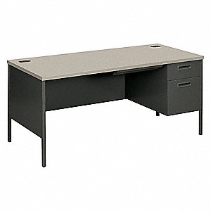 Office Desk,66 in. W,Recessed Handle