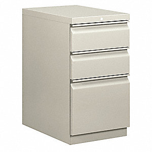 File Cabinet,28 in. H,Steel, 3 Doors