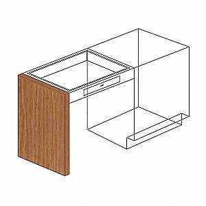 "Panel End Support,Wood,32.5""H,1""W"
