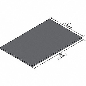 "96"" x 30"" x 1"" Epoxy Work Surface, Black"