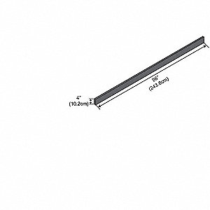"96"" x 1"" x 4"" Phenolic Work Surface Curb, Black"