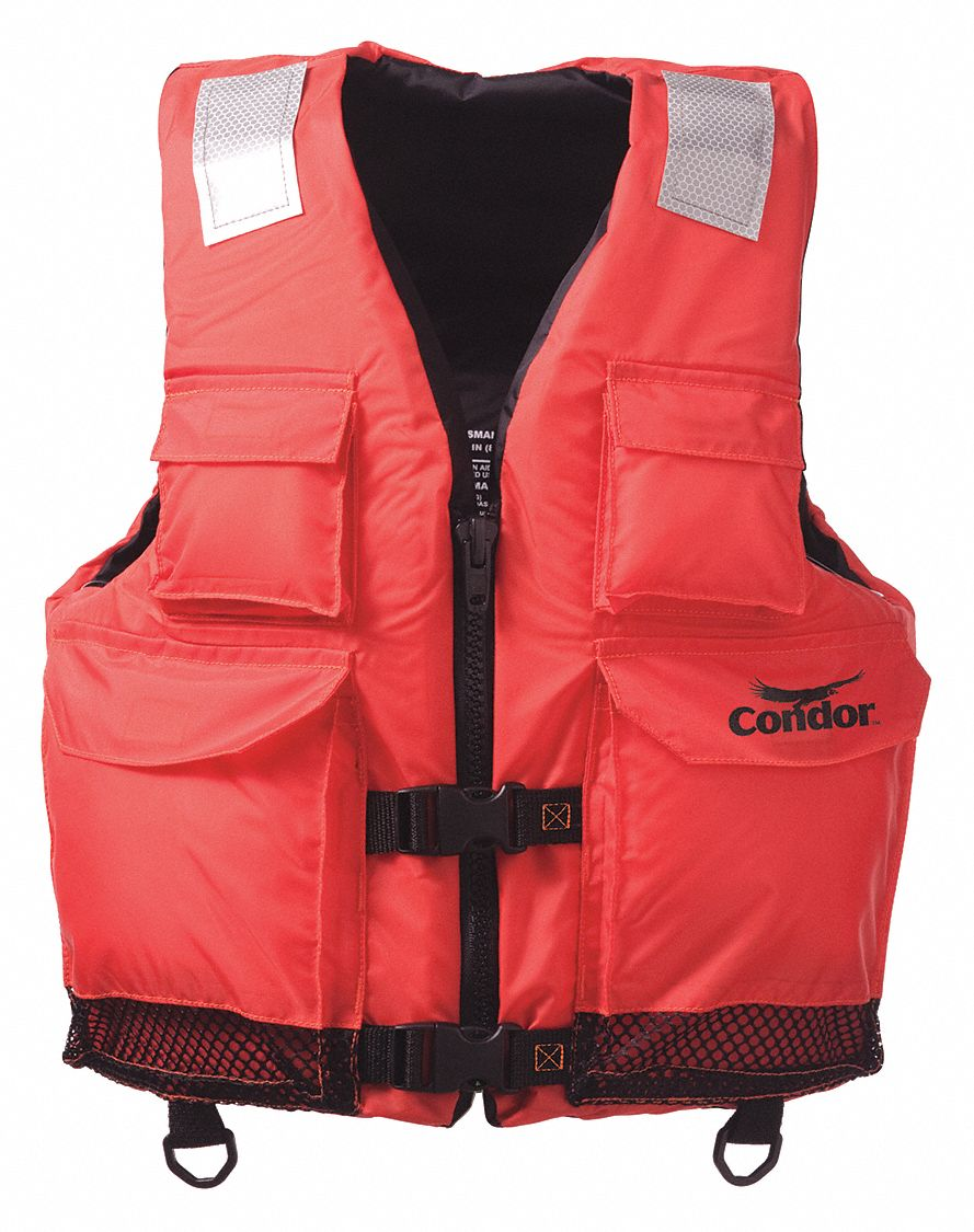 Commercial Life Jacket, USCG Type III, Foam Flotation Material, Size: L/XL