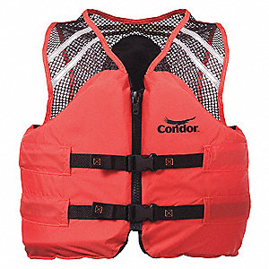 Commercial Life Jacket, USCG Type III, Foam Flotation Material, Size: 2XL