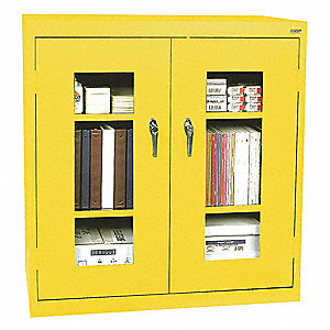 Storage Cabinet,Steel,Clearview,Yellow