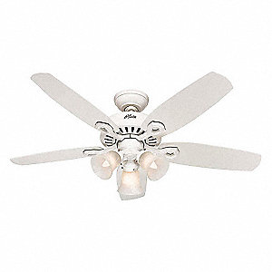 "5-Blade Decorative Ceiling Fan, 120, 3-Speed, 42"" Blade Dia., 173/105/58 RPM"