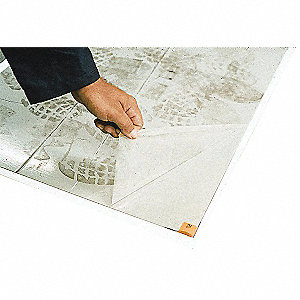 "Floor Protection Mats, 36"" Length x 18""Width, Adhesive Coated Backing"