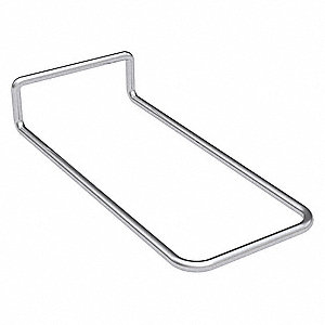 "2-3/4"" x 6"" x 1-1/8"" Steel Louvered Panel Hook; For Use With Louvered Panels"