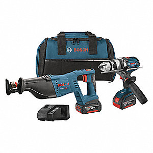 Standard Cordless Combination Kit, 18.0 Voltage, Number of Tools 2