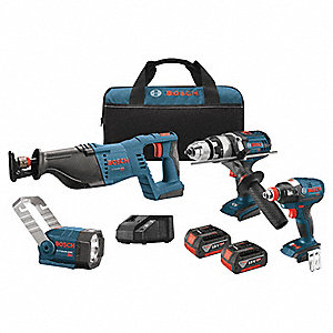 EC Brushless Cordless Combination Kit, 18.0 Voltage, Number of Tools 4