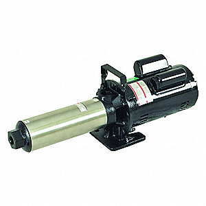 "120/240VAC Open Dripproof Multi-Stage Booster Pump, 7-Stage, 3/4"" NPT Inlet Size"