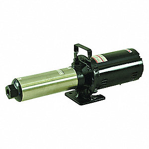 "208 to 240/480VAC Open Dripproof Multi-Stage Booster Pump, 9-Stage, 1"" NPT Inlet Size"