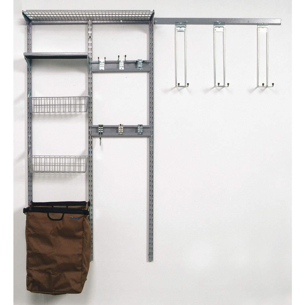 Locboard Ventilated Steel Wire Wall Shelf System 66w X 16d X 63h