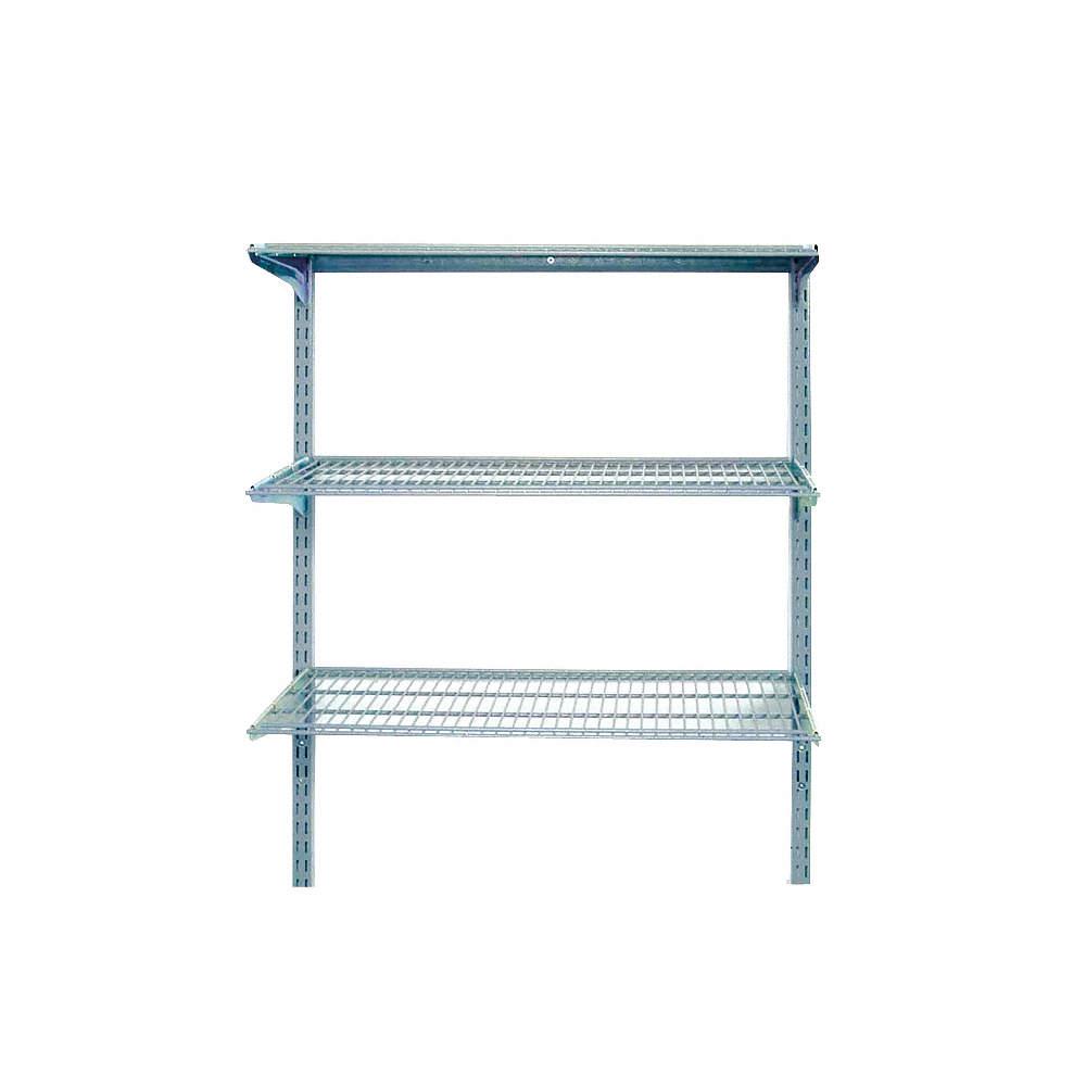 Locboard Ventilated Steel Wire Wall Shelf 33w X 16d X 31 12h