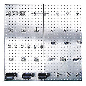 Bon Stainless Steel Pegboard Panel Kit With 250 Lb. Load Capacity, 42 1/