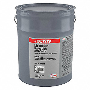 Metal-Free Anti-Seize Compound, -20°F to 2400°F, 45 lb., Black