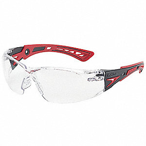 Bolle Rush+ Anti-Fog, Scratch-Resistant Safety Glasses, Clear Lens Color
