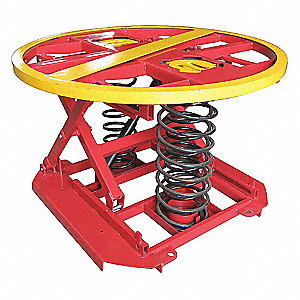 Compression Spring Pallet Positioner and Level Loader, 4,400 lb Load Capacity, 27 3/4 inRaised Heigh