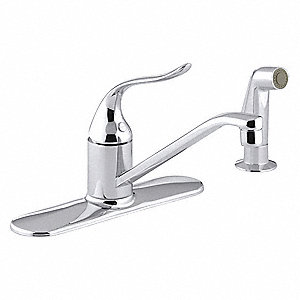 Metal Kitchen Faucet, Manual Faucet Operation, Number of Handles: 1