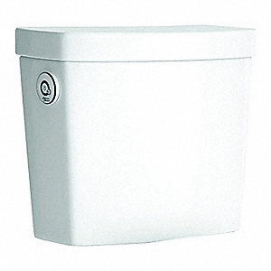 Studio® 1.28 gpf Toilet Tank, Sensor with Manual Override, White