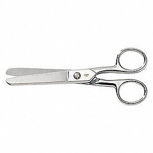 Scissors, Multipurpose, Straight, Ambidextrous, Stainless Steel, Length of Cut: 3""