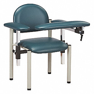 "Blood Draw Chair, Slate Blue, Seat Depth 18"", Seat Width 17-1/2"", Seat Height 18"""