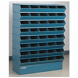 "50"" Steel Sectional Bin Unit with 5000 lb. Load Capacity, Blue; Number of Compartments: 40"