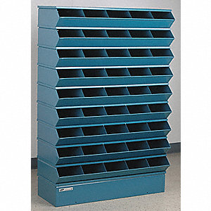 "55-1/2"" Steel Sectional Bin Unit with 5000 lb. Load Capacity, Blue; Number of Compartments: 45"