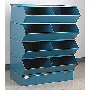 "49-1/2"" Steel Sectional Bin Unit with 5000 lb. Load Capacity, Blue; Number of Compartments: 8"