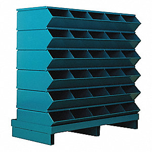 "35-1/2"" Steel Sectional Bin Unit with 5000 lb. Load Capacity, Blue; Number of Compartments: 30"