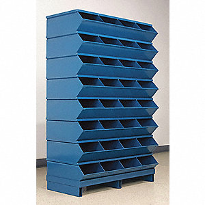 "57-3/4"" Steel Sectional Bin Unit with 5000 lb. Load Capacity, Blue; Number of Compartments: 32"