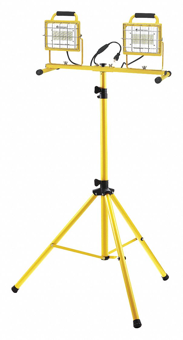 Temporary Job Site Light,  Tripod,  Corded (AC),  Lumens 13,000,  Number of Lamp Heads 2
