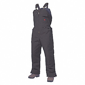 "Men's Insulated Bib Overalls, Lining Material: Polyester, Inseam: 30"", Fits Waist Size: 46 to 48"", B"