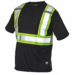 Hi-Vis T-Shirt,Black,XL