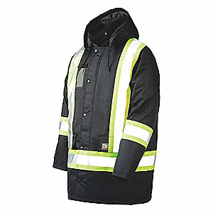 Hi-Vis Jacket, Black, 2XL