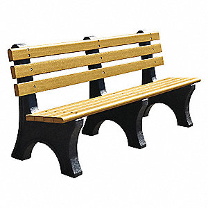 Outdoor Bench,72 in. L,48 in. H,Woodtone