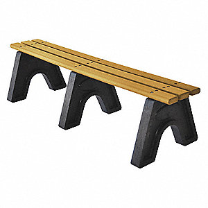 Outdoor Bench,72 in. L,16 in. H,Woodtne