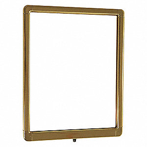 Sign Frame, Polished Brass, 14in.H, 11in.L