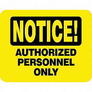 Sintra Sign,Yellow,Single Sided,11 in. H